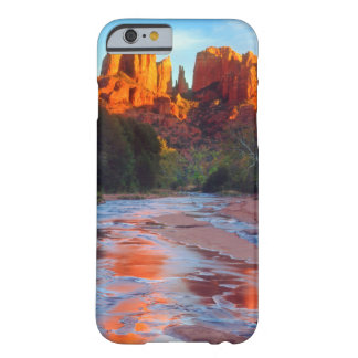 Cathedral Rock reflecting in Oak Creek at Sunset Barely There iPhone 6 Case