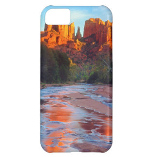 Cathedral Rock reflecting in Oak Creek at Sunset iPhone 5C Case