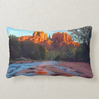 Cathedral Rock reflecting in Oak Creek at Sunset Pillows