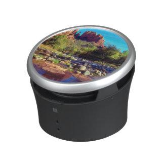 Cathedral Rock reflecting in Oak Creek Bluetooth Speaker