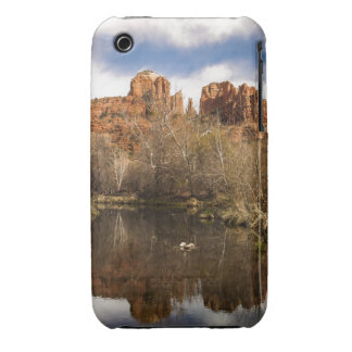 Cathedral Rock Reflections Portrait iPhone 3 Case