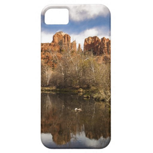 Cathedral Rock Reflections Portrait iPhone 5 Cases