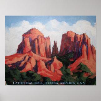 CATHEDRAL, ROCK, SEDONA, ARIZONA, U.S.A. POSTER