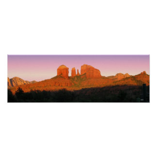 Cathedral Rock Sedona Panorama Poster