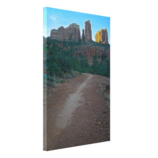 Cathedral Rock trail Sedona Stretched Canvas Prints