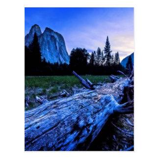 Cathedral Rocks from El Capitan Meadows Postcard