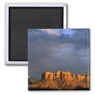 Cathedral Rocks in Sedona Arizona 2 Inch Square Magnet
