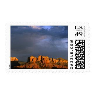 Cathedral Rocks in Sedona Arizona Stamp