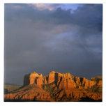 "Cathedral Rocks in Sedona Arizona Tile<br><div class=""desc"">COPYRIGHT Chuck Haney / DanitaDelimont.com   US03 CHA0021.jpg   Cathedral Rocks in Sedona Arizona</div>"