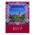 Cathedral rubies art Deco RSVP Postcard