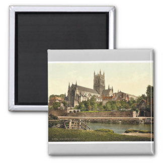 Cathedral, S. W., Worcester, England rare Photochr Magnet