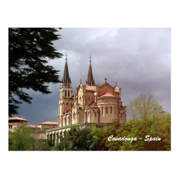 Cathedral Santa Maria La Real de Covadonga Postcard