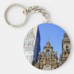 Cathedral, Santiago de Compostela, Spain Basic Round Button Keychain