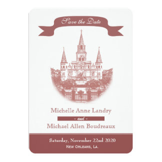 Cathedral Save the Date Card