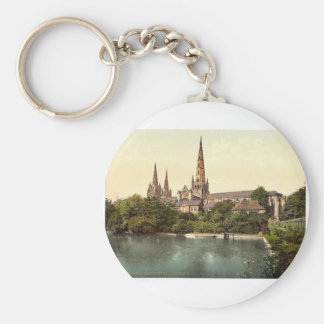 Cathedral, South Side, Lichfield, England rare Pho Basic Round Button Keychain