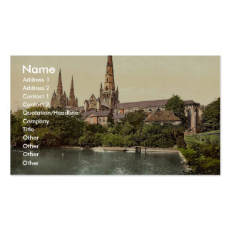 Cathedral, South Side, Lichfield, England rare Pho Business Card Templates