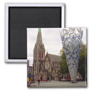 Cathedral square 2 inch square magnet