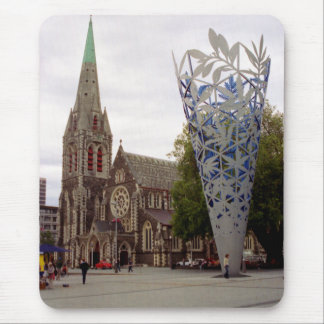 Cathedral square mouse pad