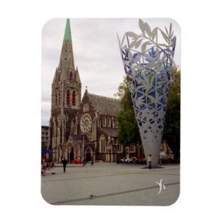 Cathedral Square Rectangular Photo Magnet