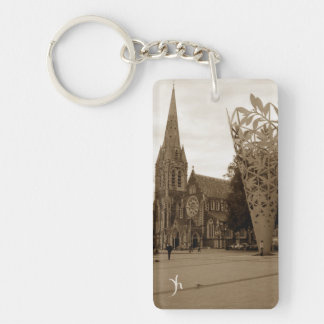 Cathedral Square (Sepia) Keychain