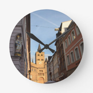Cathedral View Trier Round Clock