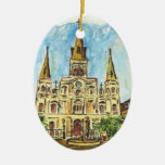 Cathedral Watercolor Ornament