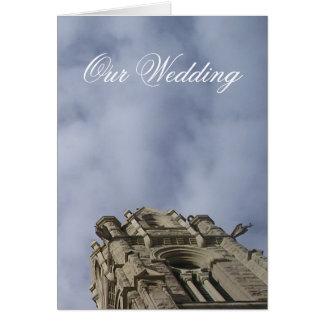 Cathedral Wedding Invitation Greeting Card