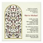 "Cathedral Window 5.25"" Square Invitation Card"