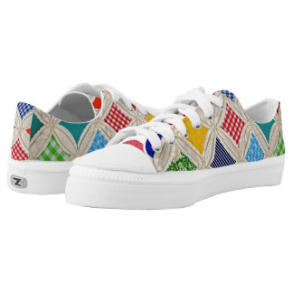 Cathedral Window Quilt design Printed Shoes