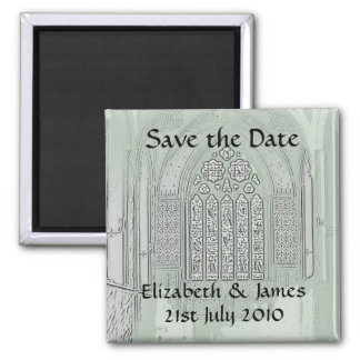 Cathedral Windows 2 Inch Square Magnet