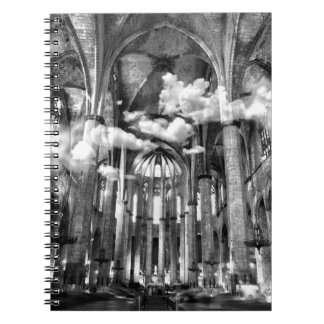 Cathedral with clouds spiral notebook
