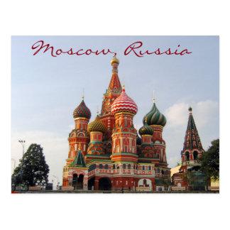 Cathedrale de Moscú de la albahaca famosa del St. Tarjeta Postal