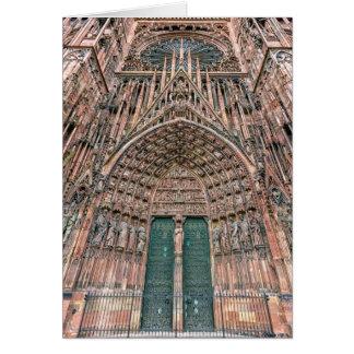 Cathedrale Notre-Dame, Estrasburgo, Francia Tarjeta De Felicitación