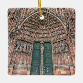 Cathedrale Notre-Dame, Strasbourg, France Ceramic Ornament