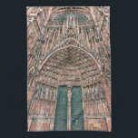 "Cathedrale Notre-Dame, Strasbourg, France Kitchen Towel<br><div class=""desc"">Frontispiece of the facade of Cathedrale Notre-Dame or Cathedral of Our Lady of Strasbourg with all detailed sculptures,  Alsace,  France</div>"