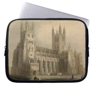 Cathedrals of England: Canterbury 1836 Laptop Case Laptop Computer Sleeves