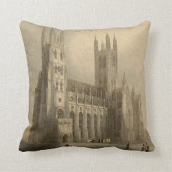 Cathedrals of England: Canterbury 1836 Pillow