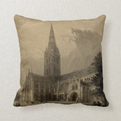 Cathedrals of England: Salisbury 1836 Pillow