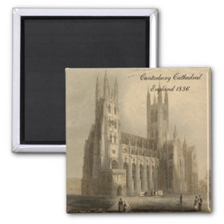Cathedrals of England Series: Canterbury 1836 2 Inch Square Magnet