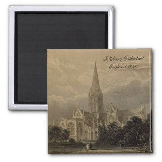 Cathedrals of England Series:Salisbury 1836 Magnet