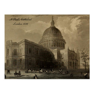 Cathedrals of England Series St Paul s 1836 Postcard