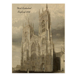 Cathedrals of England Series: York 1836 Postcard