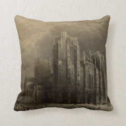 Cathedrals of England: Wells 1836 Pillow