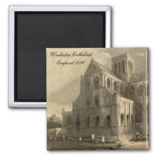Cathedrals of England: Winchester 1836 Magnet