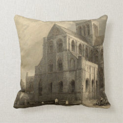 Cathedrals of England: Winchester 1836 Pillow
