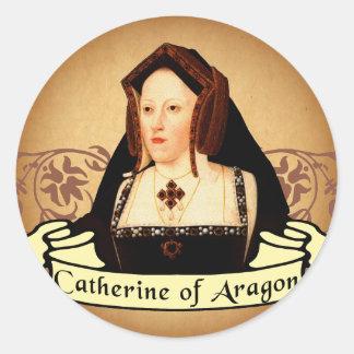 Catherine de la obra clásica de Aragón Etiquetas Redondas