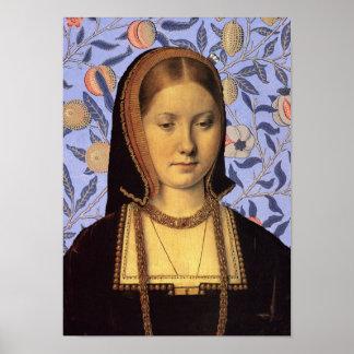 Catherine de la reina de Aragón del retrato de Ing Impresiones