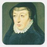 Catherine de Medici Pegatina Cuadrada