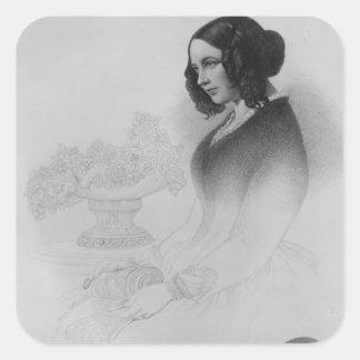 Catherine Dickens Calcomanías Cuadradases