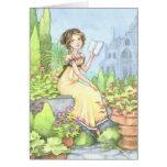 Catherine en la tarjeta de Jane Austen de la abadí